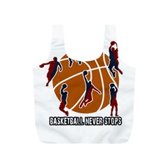 Basketball Never Stops Full Print Recycle Bags (s)  by Valentinaart