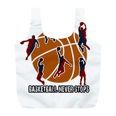 Basketball Never Stops Full Print Recycle Bags (l)  by Valentinaart