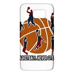 Basketball Never Stops Galaxy S6 by Valentinaart