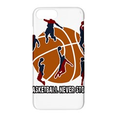 Basketball Never Stops Apple Iphone 7 Plus Hardshell Case by Valentinaart