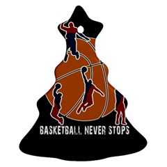 Basketball Never Stops Christmas Tree Ornament (two Sides) by Valentinaart