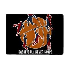 Basketball Never Stops Apple Ipad Mini Flip Case by Valentinaart