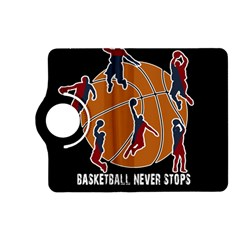 Basketball Never Stops Kindle Fire Hd (2013) Flip 360 Case by Valentinaart