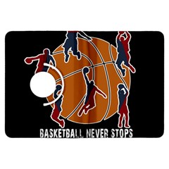 Basketball Never Stops Kindle Fire Hdx Flip 360 Case by Valentinaart