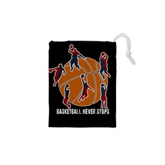 Basketball Never Stops Drawstring Pouches (xs)  by Valentinaart