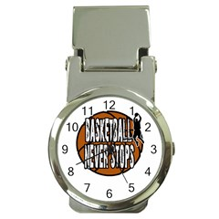 Basketball Never Stops Money Clip Watches by Valentinaart