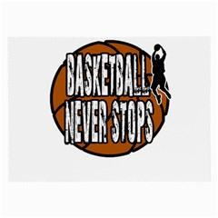 Basketball Never Stops Large Glasses Cloth (2 Side) by Valentinaart