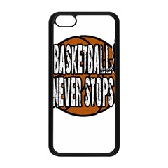 Basketball Never Stops Apple Iphone 5c Seamless Case (black) by Valentinaart