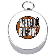 Basketball Never Stops Silver Compasses by Valentinaart