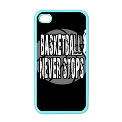 Basketball Never Stops Apple Iphone 4 Case (color) by Valentinaart