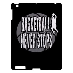 Basketball Never Stops Apple Ipad 3/4 Hardshell Case by Valentinaart