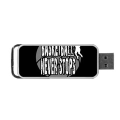 Basketball Never Stops Portable Usb Flash (two Sides) by Valentinaart