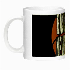 Basketball Never Stops Night Luminous Mugs by Valentinaart
