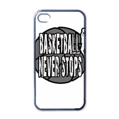 Basketball Never Stops Apple Iphone 4 Case (black) by Valentinaart