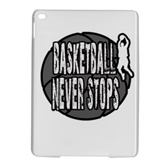 Basketball Never Stops Ipad Air 2 Hardshell Cases by Valentinaart