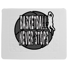 Basketball Never Stops Jigsaw Puzzle Photo Stand (rectangular) by Valentinaart