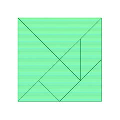 Decorative Lines Pattern Acrylic Tangram Puzzle (4  X 4 ) by Valentinaart