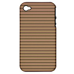 Decorative Lines Pattern Apple Iphone 4/4s Hardshell Case (pc+silicone) by Valentinaart
