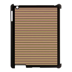 Decorative Lines Pattern Apple Ipad 3/4 Case (black) by Valentinaart