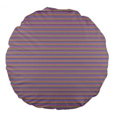 Decorative Lines Pattern Large 18  Premium Flano Round Cushions by Valentinaart