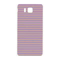 Decorative Lines Pattern Samsung Galaxy Alpha Hardshell Back Case by Valentinaart