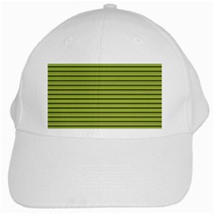 Decorative Lines Pattern White Cap by Valentinaart