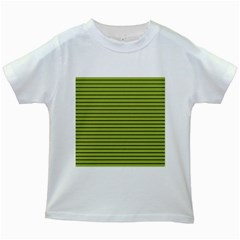 Decorative Lines Pattern Kids White T Shirts by Valentinaart