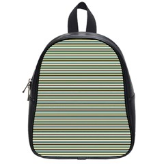 Decorative Lines Pattern School Bags (small)  by Valentinaart