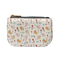 Kittens And Birds And Floral  Patterns Mini Coin Purses by TastefulDesigns