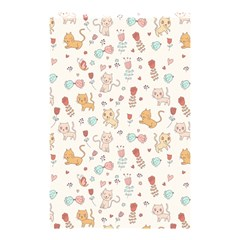 Kittens And Birds And Floral  Patterns Shower Curtain 48  X 72  (small)  by TastefulDesigns