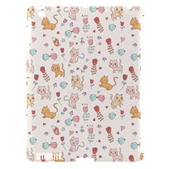 Kittens And Birds And Floral  Patterns Apple Ipad 3/4 Hardshell Case (compatible With Smart Cover) by TastefulDesigns