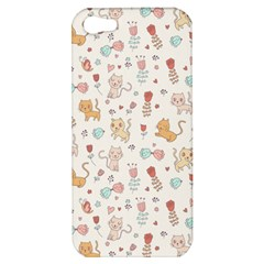 Kittens And Birds And Floral  Patterns Apple Iphone 5 Hardshell Case by TastefulDesigns