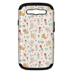Kittens And Birds And Floral  Patterns Samsung Galaxy S Iii Hardshell Case (pc+silicone) by TastefulDesigns