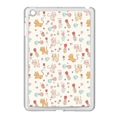 Kittens And Birds And Floral  Patterns Apple Ipad Mini Case (white) by TastefulDesigns