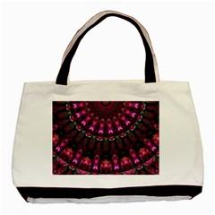 Pink Vortex Half Kaleidoscope  Basic Tote Bag by KirstenStar