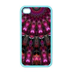 Pink Vortex Half Kaleidoscope  Apple Iphone 4 Case (color) by KirstenStar