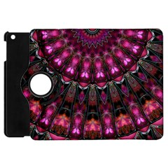 Pink Vortex Half Kaleidoscope  Apple Ipad Mini Flip 360 Case by KirstenStar