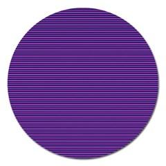 Decorative Lines Pattern Magnet 5  (round) by Valentinaart