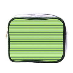 Decorative Lines Pattern Mini Toiletries Bags by Valentinaart