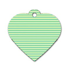 Decorative Lines Pattern Dog Tag Heart (one Side) by Valentinaart