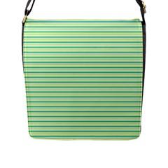 Decorative Lines Pattern Flap Messenger Bag (l)  by Valentinaart