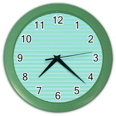 Decorative Lines Pattern Color Wall Clocks by Valentinaart