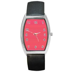 Decorative Lines Pattern Barrel Style Metal Watch by Valentinaart