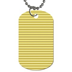 Decorative Lines Pattern Dog Tag (two Sides) by Valentinaart