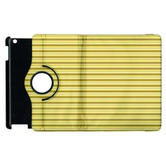 Decorative Lines Pattern Apple Ipad 2 Flip 360 Case by Valentinaart