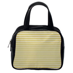 Decorative Lines Pattern Classic Handbags (one Side) by Valentinaart