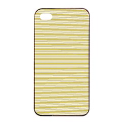 Decorative Lines Pattern Apple Iphone 4/4s Seamless Case (black) by Valentinaart