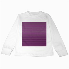 Decorative Lines Pattern Kids Long Sleeve T Shirts by Valentinaart