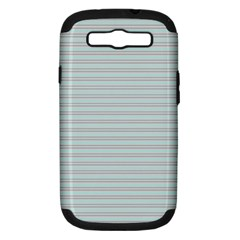 Decorative Lines Pattern Samsung Galaxy S Iii Hardshell Case (pc+silicone) by Valentinaart