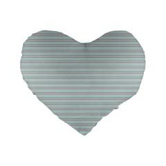 Decorative Lines Pattern Standard 16  Premium Heart Shape Cushions by Valentinaart